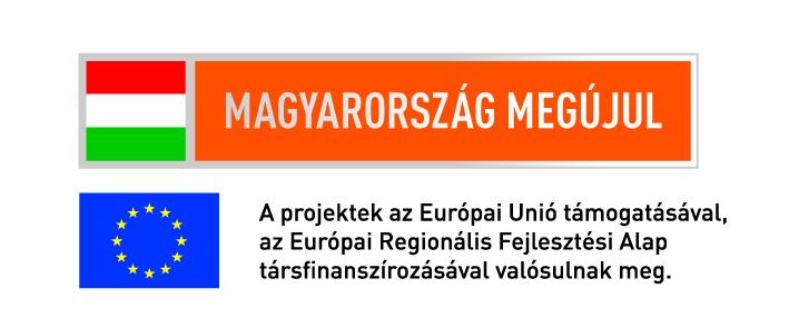 Magyarország Megújul - A Projektek az Európai Únió támogatásával, az Európai Regionális Fejlesztési Alap társfinanszírozásával valósultak meg.