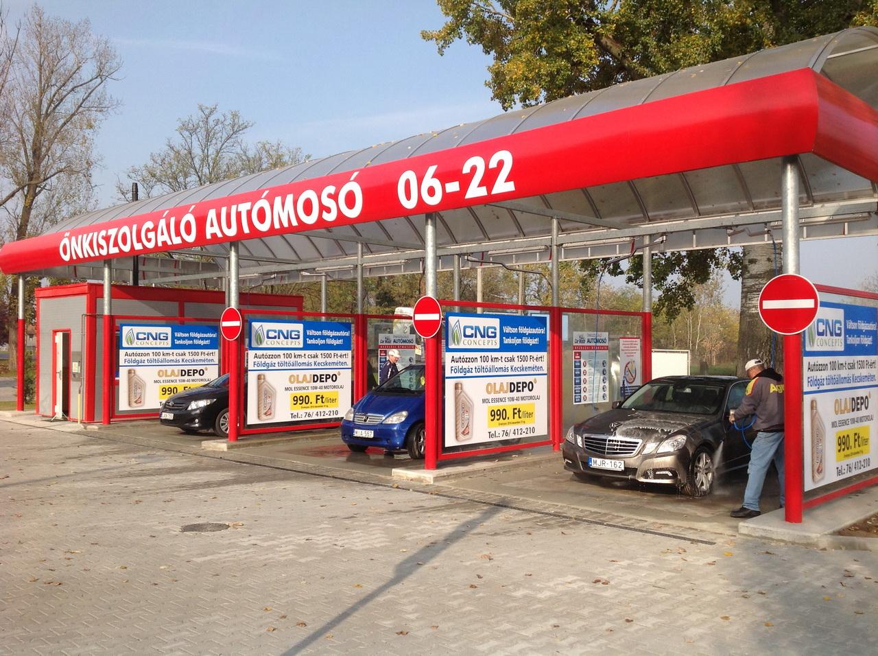 Önkiszolgáló Kézi Autómosó és Porszívó, 6000 Kecskemét, Széchenyiváros, a Budai úti MOL benzinkút mellett - Olajdepo Kecskemét